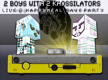 2 boys + 2 x Korg Kaossilator = liveact