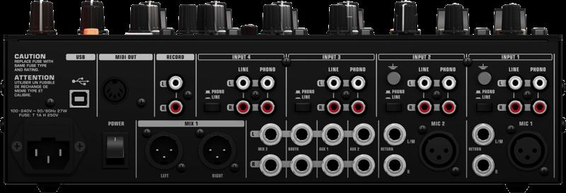 Behringer NOX DJ mixers